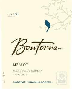 Bonterra Merlot 2011 wine label