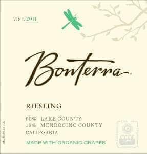 Bonterra Riesling 2011 wine label