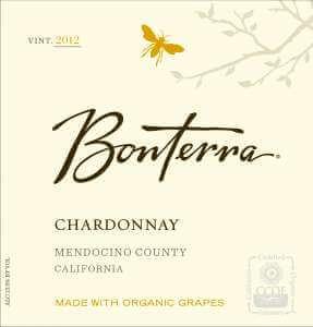 Bonterra Chardonnay 2012 wine label