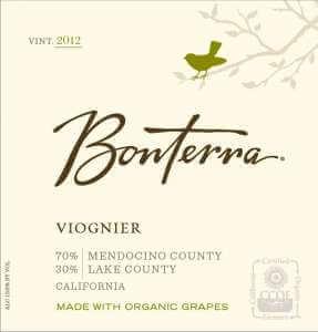Bonterra Viognier 2012 wine label