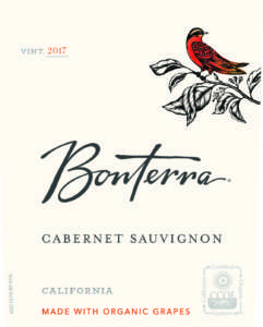 Bonterra Cabernet Sauvignon 2017 Front Label