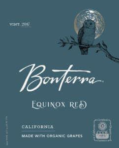 2017 Bonterra Equinox Red Front Label