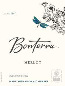 Bonterra Merlot 2017 Front Label