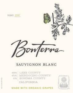 Bonterra Sauvignon Blanc 2017 Front Label