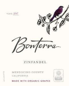 Bonterra Zinfandel 2017 Front Label