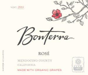 2018 Bonterra Rose Front Label