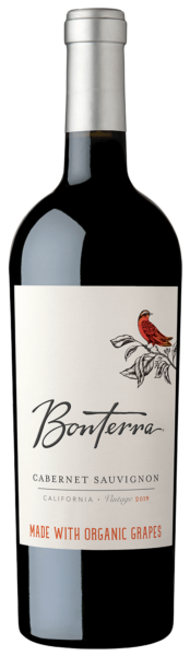 Bottle of 2019 Bonterra Cabernet Sauvignon