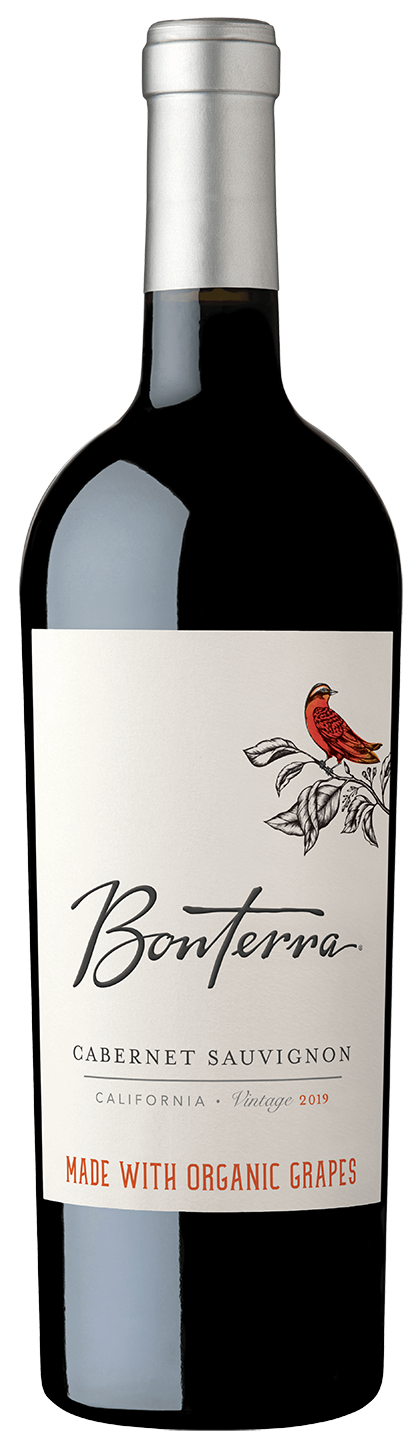 Bottle of 2019 Bonterra Cabernet Sauvignon
