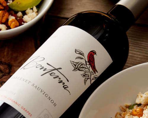 Bonterra Cabernet Sauvignon Wine with Harvest Bowls