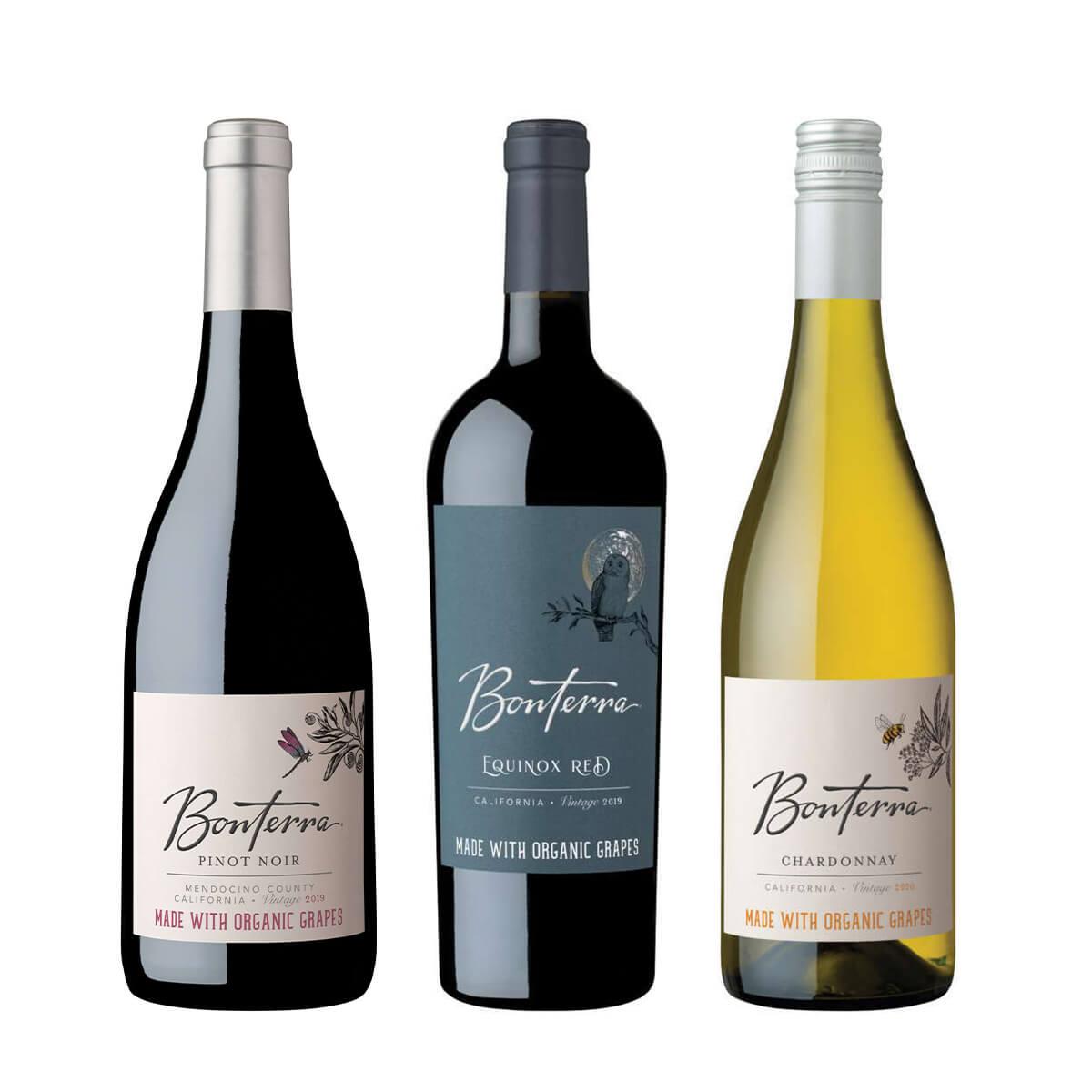 Bonterra Organically Farmed Wine Family Organic Trio September Shot