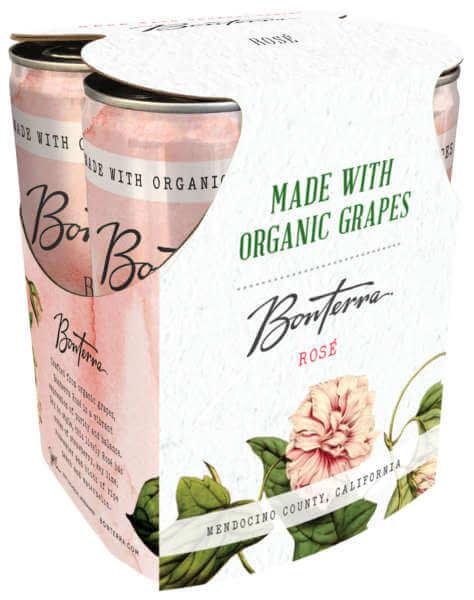 Bonterra Rosé 4 pack cans