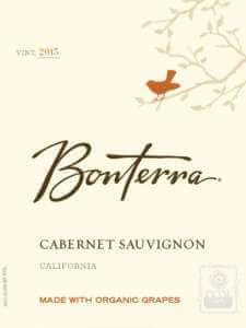 Bonterra Cabernet Sauvignon 2015 bottle label