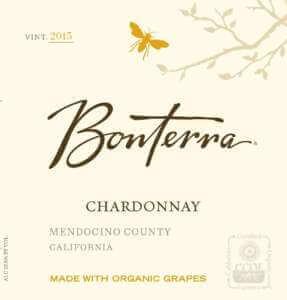 Bonterra Chardonnay 2015 wine label