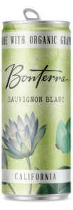 A Single Bonterra Sauvignon Blanc Can