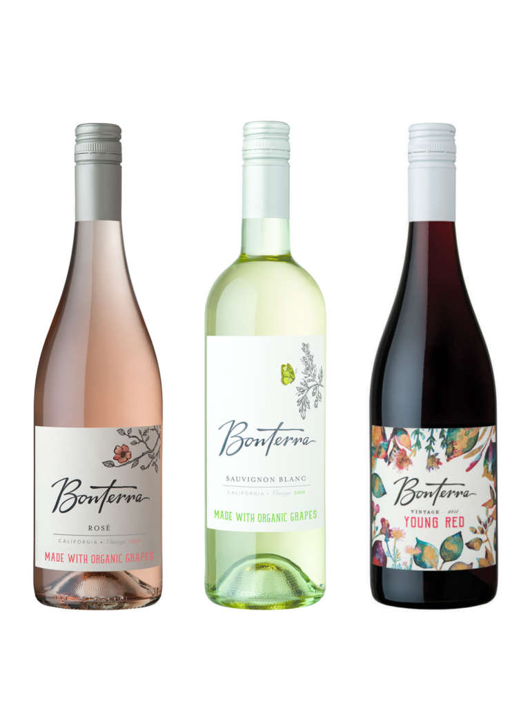 Bonterra Wine Bundle Trio of Rose, Sauv Blanc and Young Red Wines