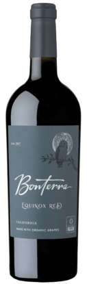 Bonterra Equinox Red 2017 wine bottle