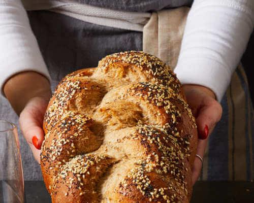 Bonterra Cabernet Sauvignon and braided bread twist