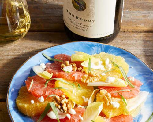 Citrus Salad with Tarragon Vinaigrette and Walnuts
