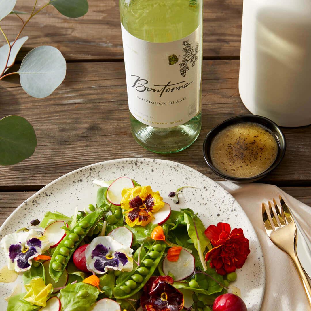Snap Pea Salad with Sauvignon Blanc Wine
