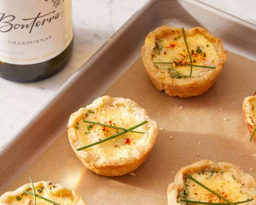 Chardonnay with Mini Quiche