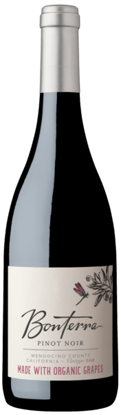 Bonterra Organic Wine Pinot Noir 2018 Bottle Shot