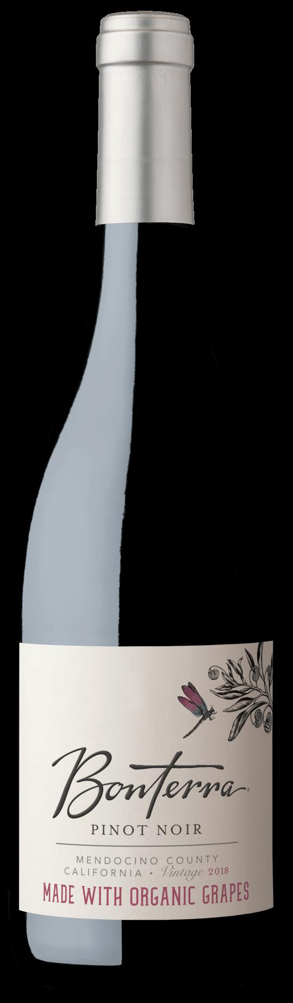 Bonterra Organic Wine Pinot Noir 2018 Bottle Shot