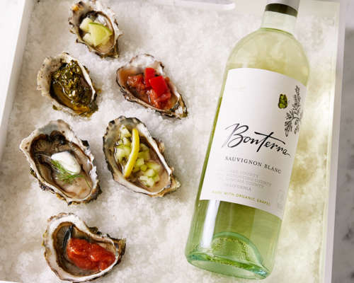 Oysters 6 ways and Bonterra's Sauvignon Blanc