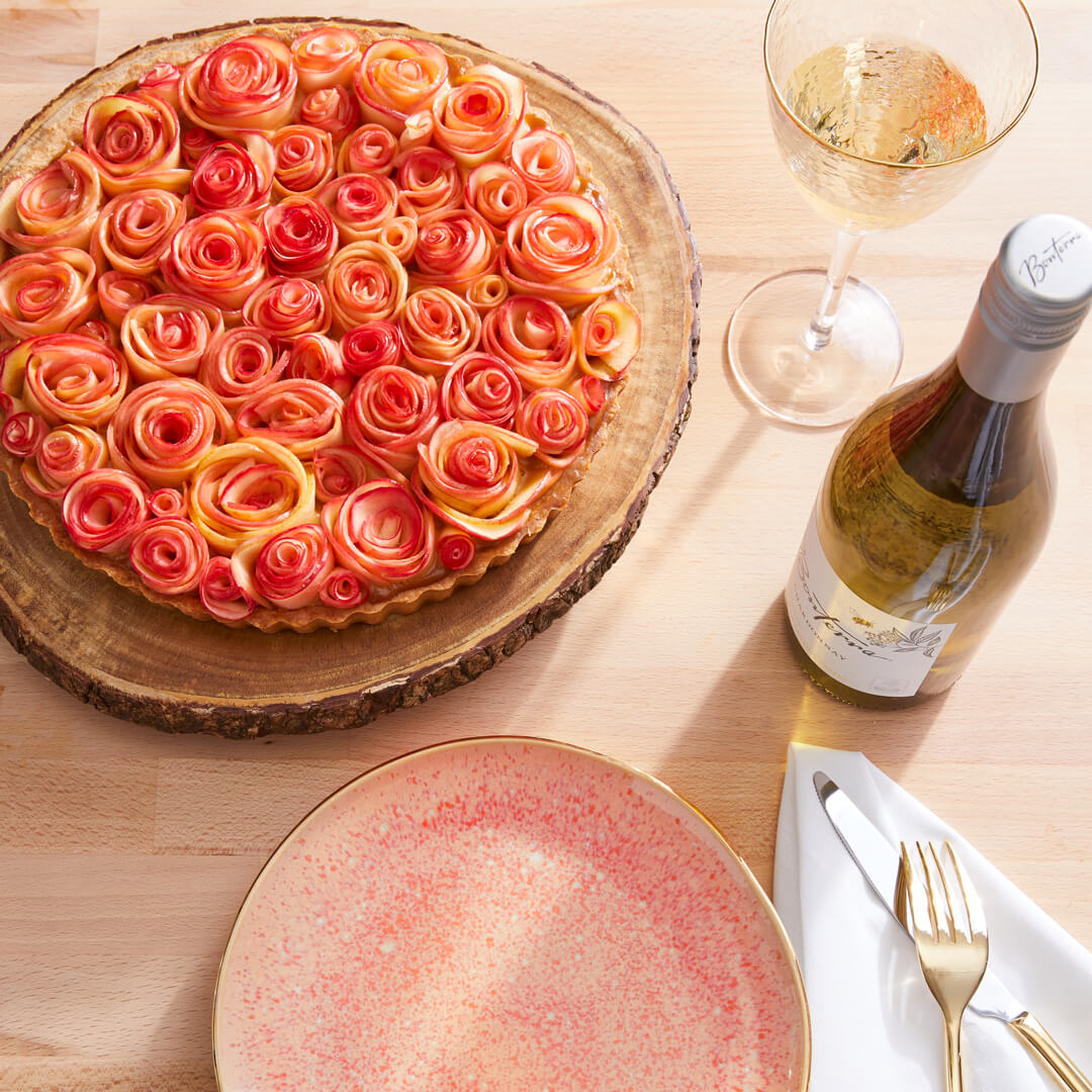 Candied Caramel Apple Rose Tart
