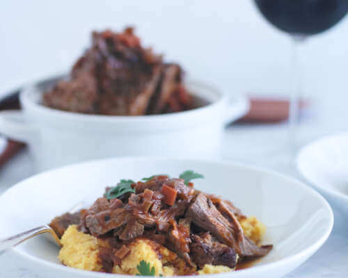Bonterra Cabernet Braised Beef with a Mascarpone Polenta