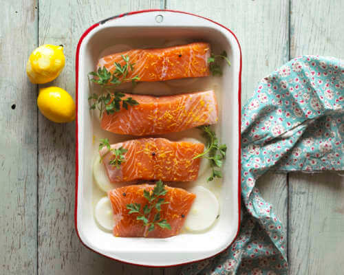 Dana's Salmon with Fennel Onion Glaze