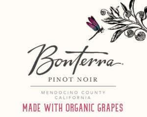 Bonterra Pinot Noir Front Label