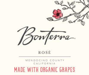Bonterra Rose Front Label