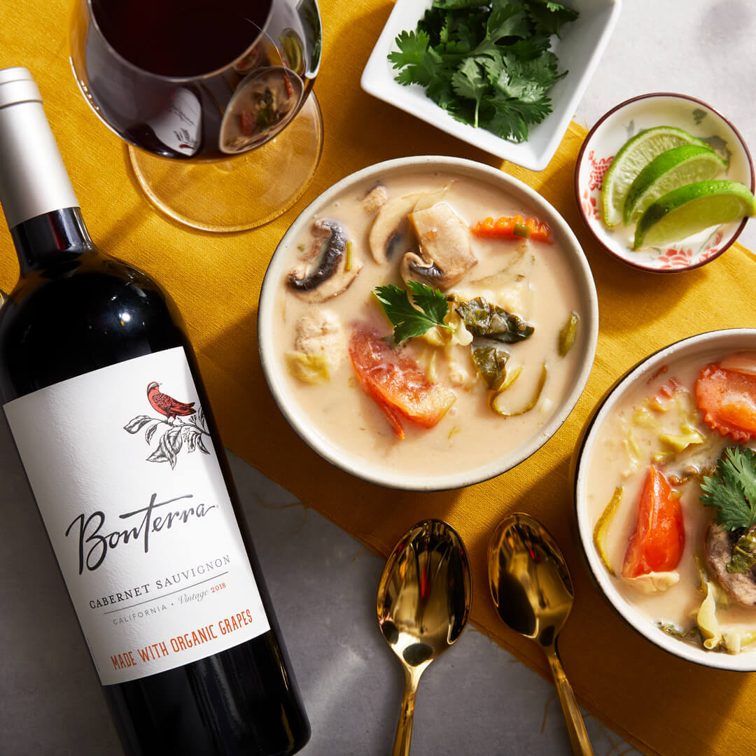 Tom Kha with Bonterra Sauvignon