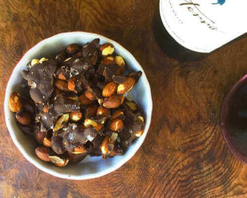 Dark Chocolate-Sea Salt Almond Bark