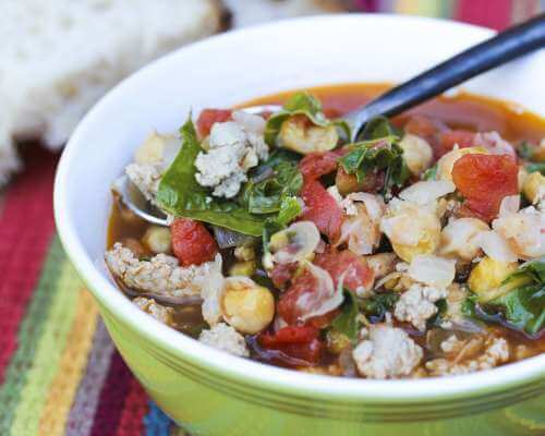 Chickpea and Greens Chili