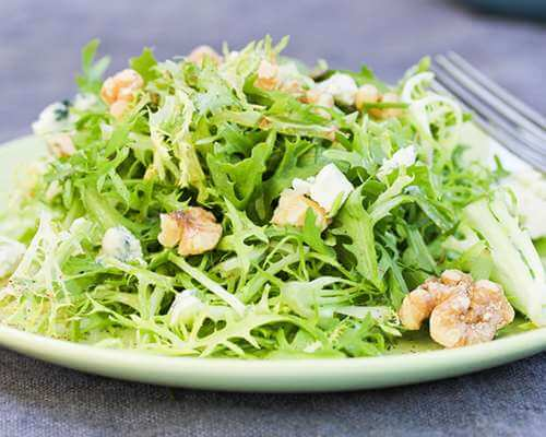 Frisee and Pear Salad with Blue Cheese and Walnuts