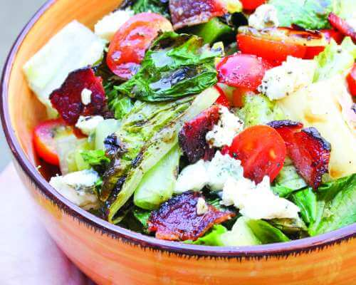 Grilled BLT Salad with Blue Cheese