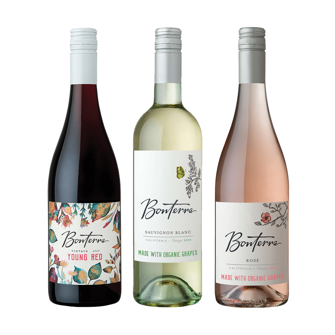 Bonterra Summer Organically Farmed Wine Family Shot